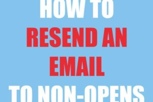 How to Resend Emails to Non-Opens in Madmimi