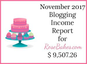 November 2017 Blogging Income Report
